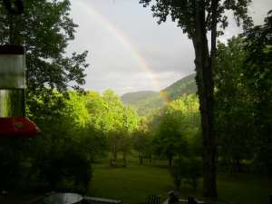Rainbow from deck May 2009 002