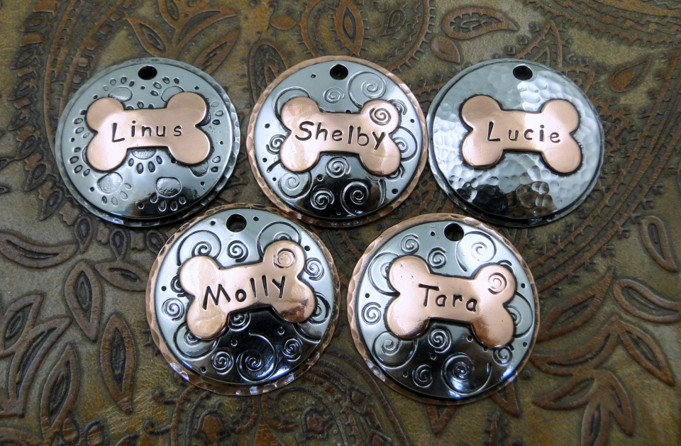 Domed Dog ID Tags